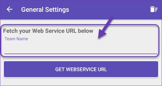 Getting web service URL