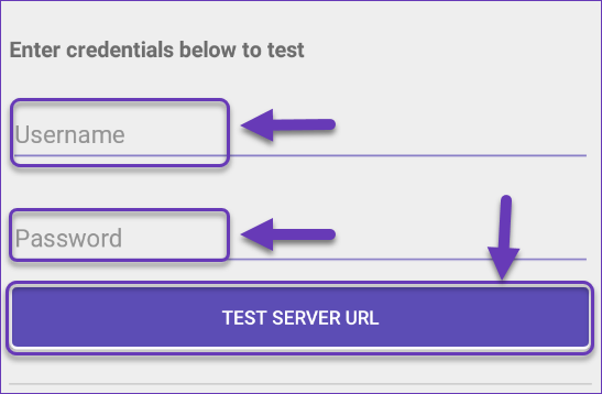 test credentials