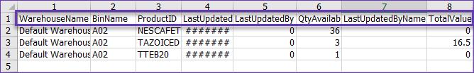 sellercloud skustack export specific bin inventory