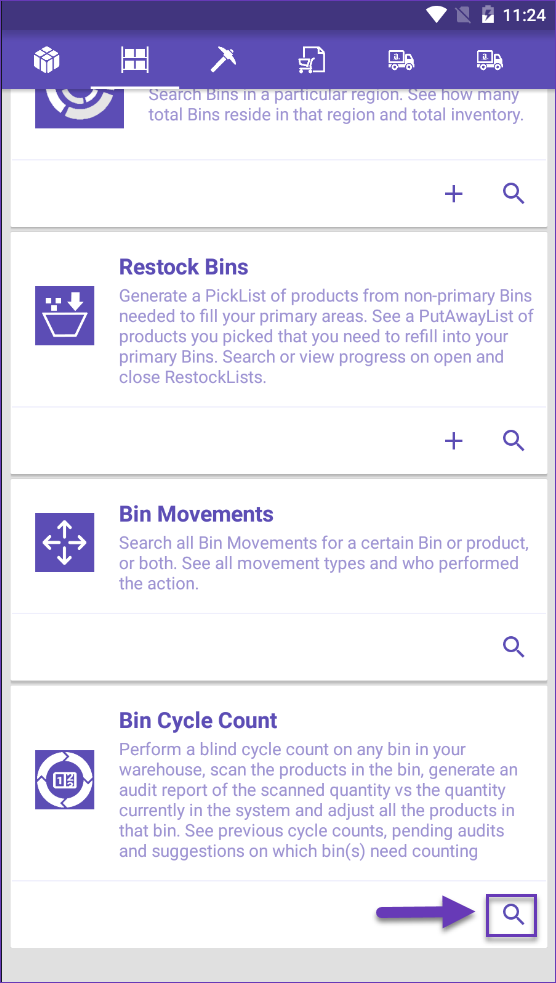 sellercloud skustack search bin cycle count